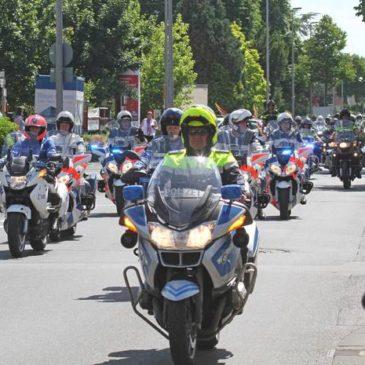 721 Motorradfahrer ziehen durch Sankt Augustin